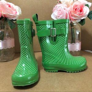⬇️$39 Janie and Jack Dot Rainboot Green Sz 5 T